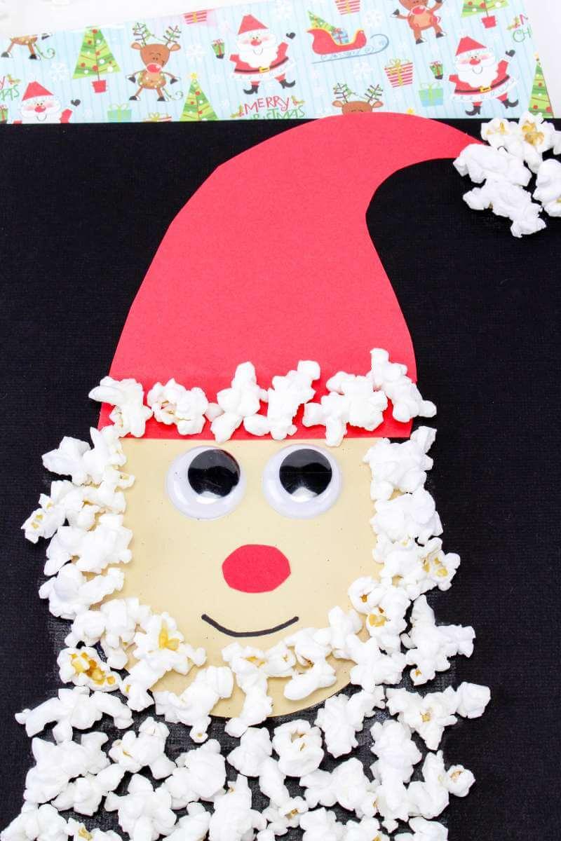 Popcorn and paper Santa
