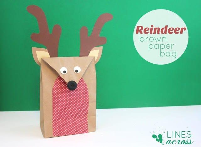 Reindeer paper bag gift wrap