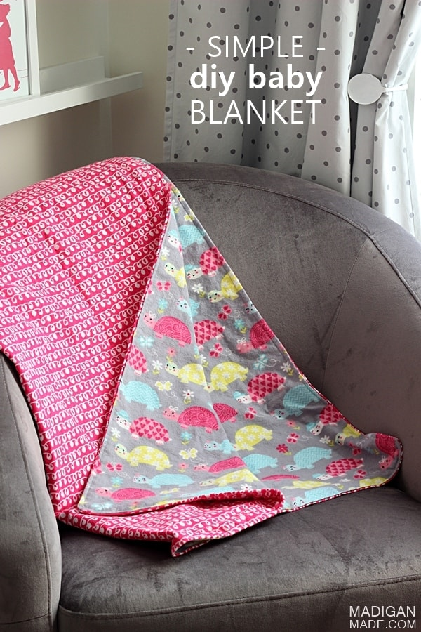 Simple double sided DIY baby blanket