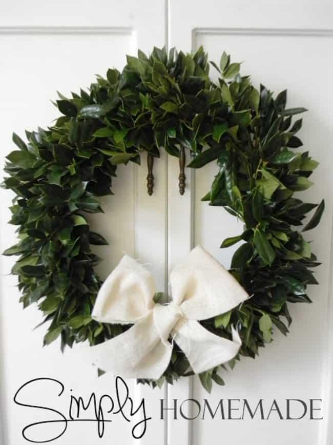 Simple holly wreath