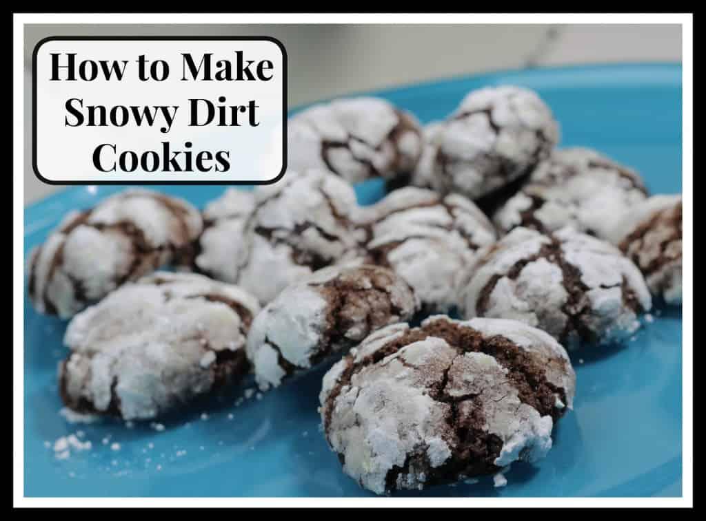 Snowy dirt cookies