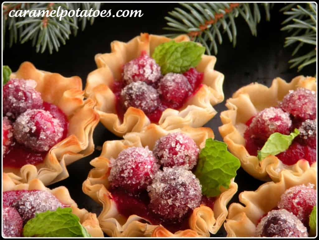 Sparkling craberry cups