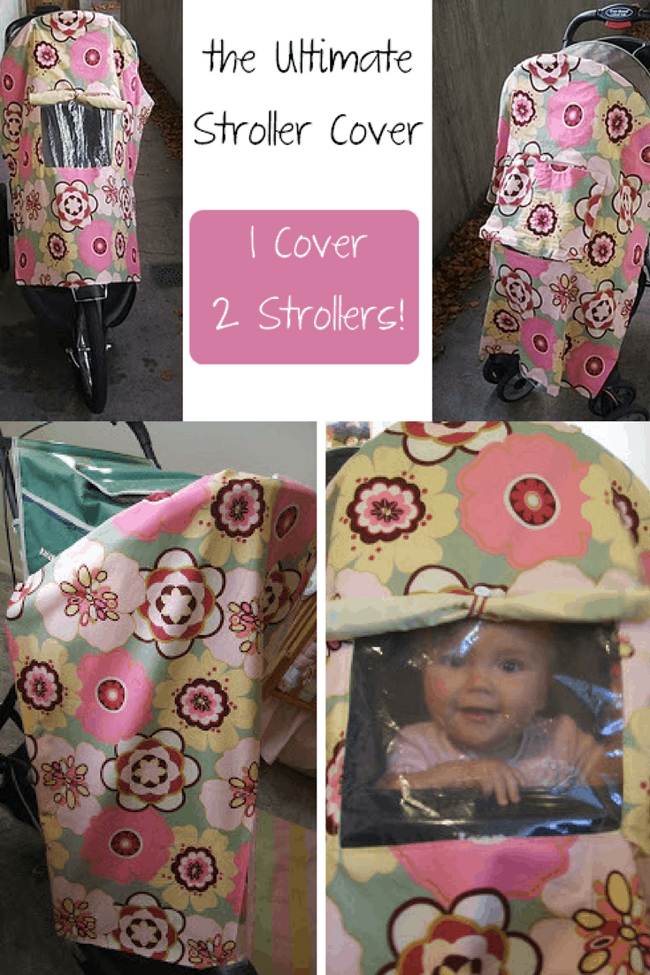 The ultimate stroller cover with a window 15 DIY Winter Pram and Stroller Blankets
