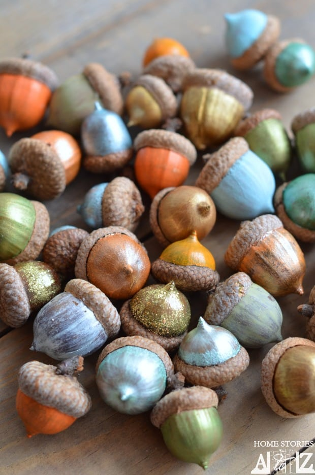 Tips for painting acorns