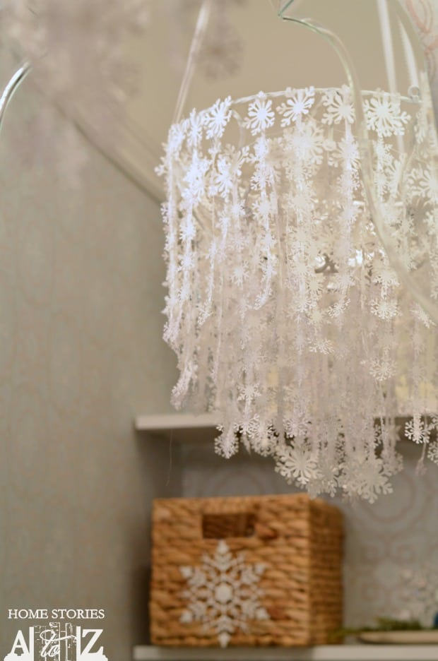Winter snowflake chandelier