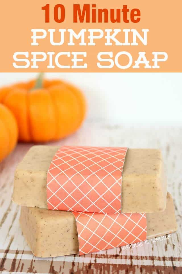 10-minute DIY pumpkin spice soap