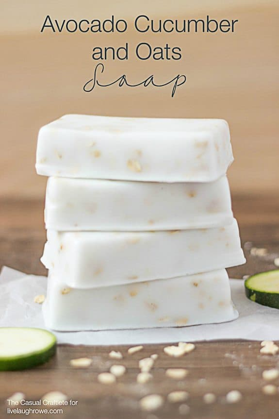 Avocado, cucumber, and oat soap