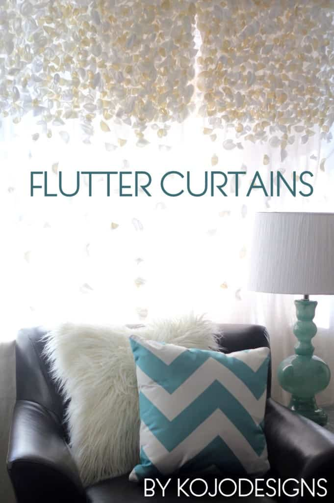 Beautiful DIY flutter curtains