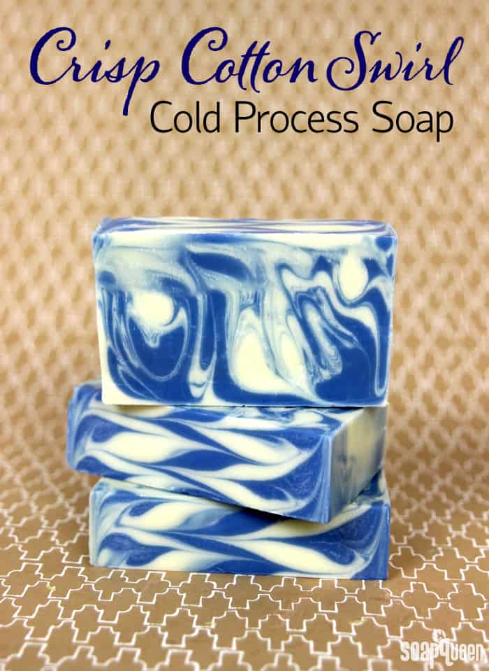 Crisp cotton swirl cold compress soap