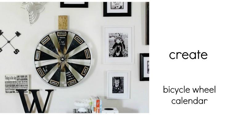 DIY bicycle wheel calendar
