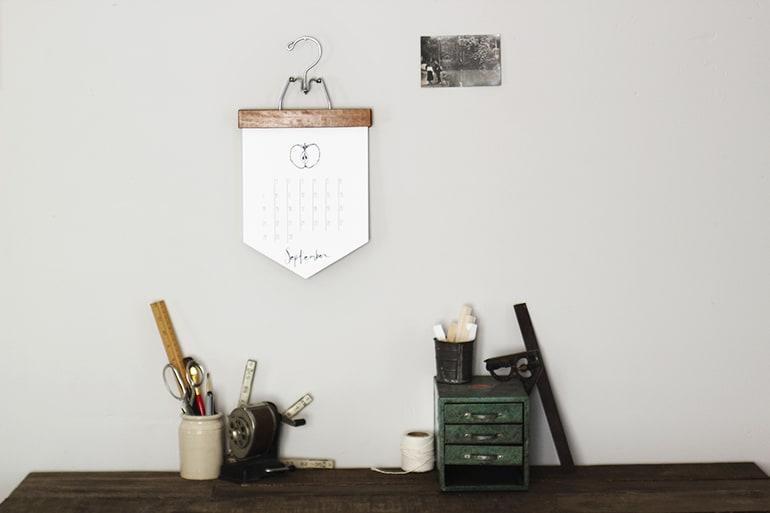 DIY calendar banner