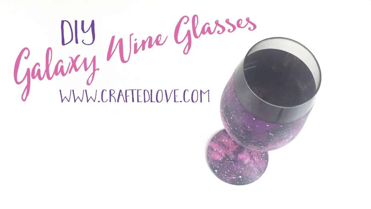 DIY galaxy wine glasses