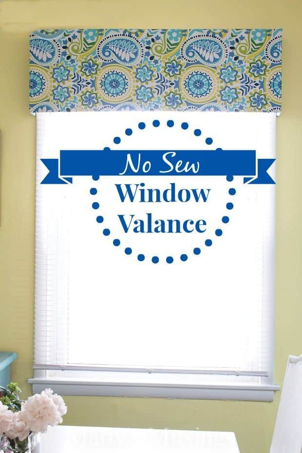 DIY no-sew window valances
