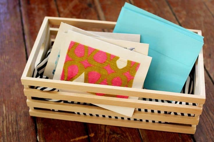Fabric scrap notecards