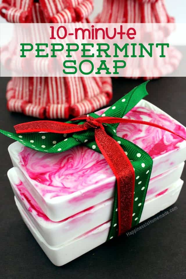 Oretty 10-minute holiday peppermint soap