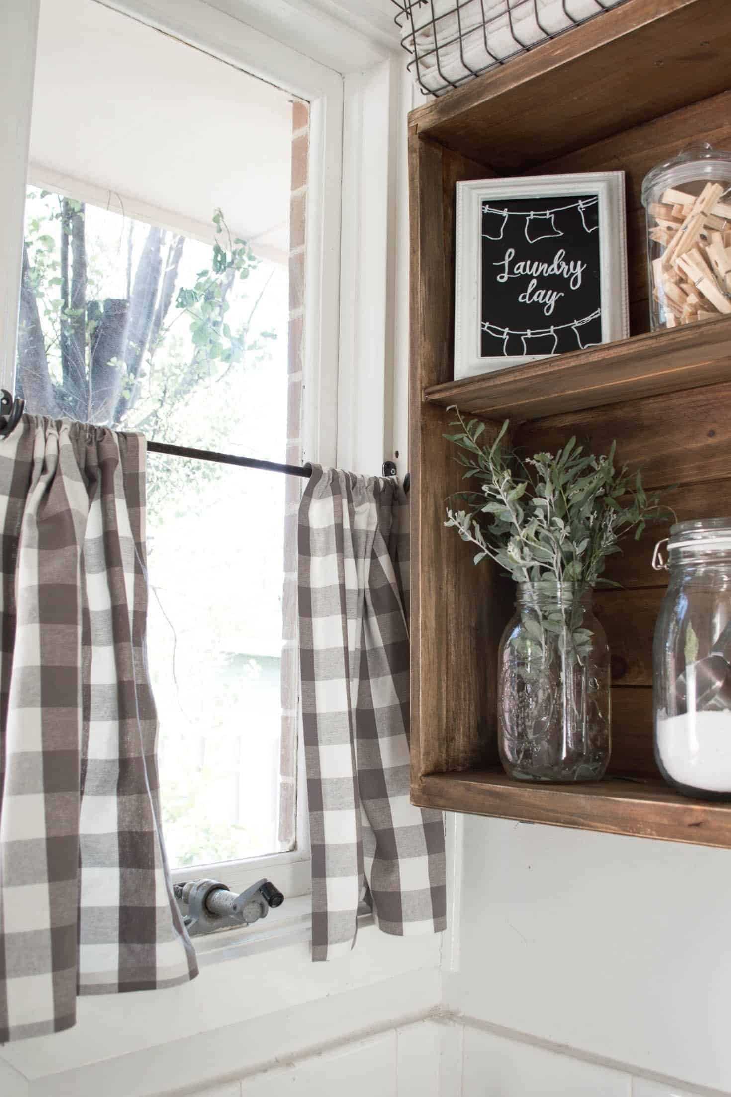 Quick and easy no-sew cafe curtains