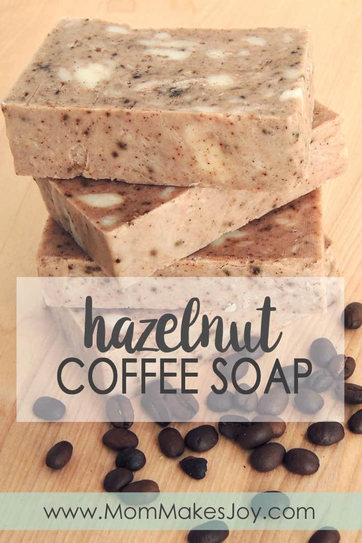 Rustic hazelnut coffee soap