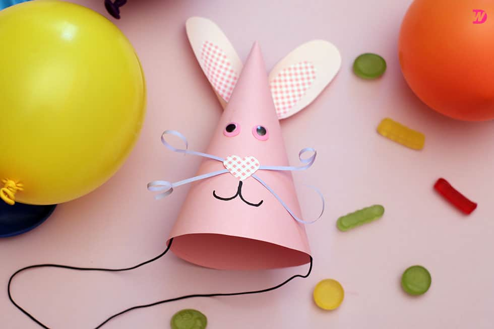 Bunny Party Hat craft DIY Easter Bunny Party Hat to Celebrate