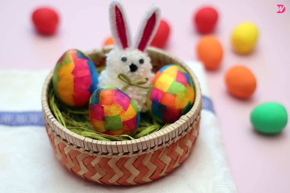 Colorful Paper Maché Easter Eggs Paper Maché Easter Eggs for Colorful Holidays