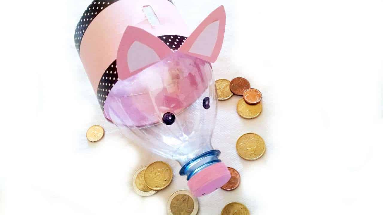 Cute plastic bottle piggybank