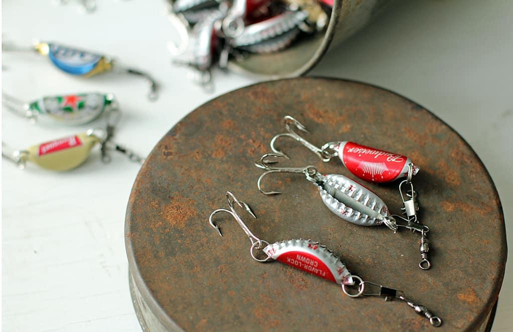 DIY bottle cap fishing lures