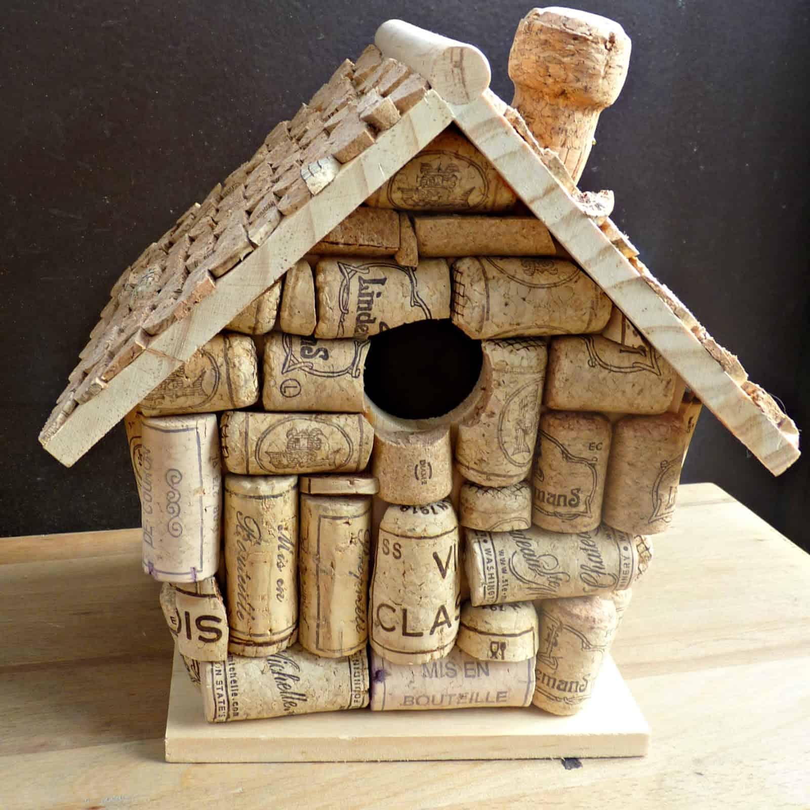 DIY cork birdhouse