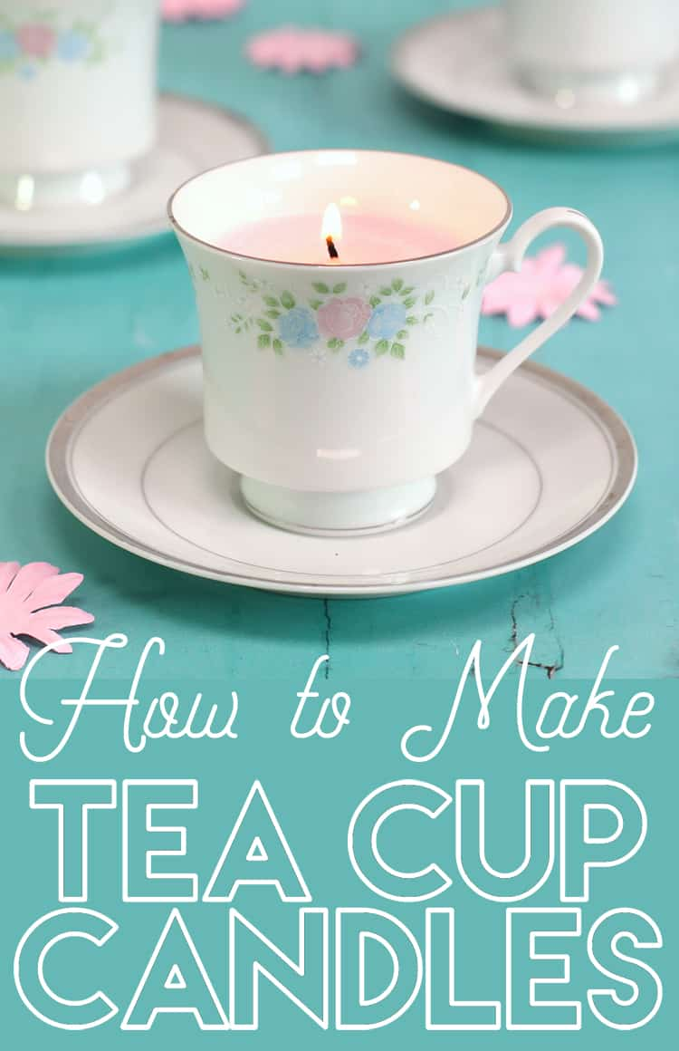 DIY teacup candles Repurposing Teacups and Tea Pots Into Home Decor