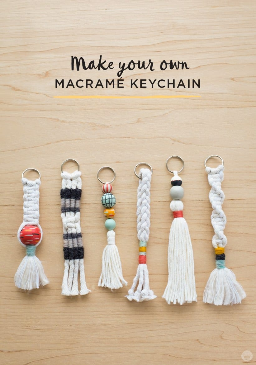 DIY yarn and macrame key chains