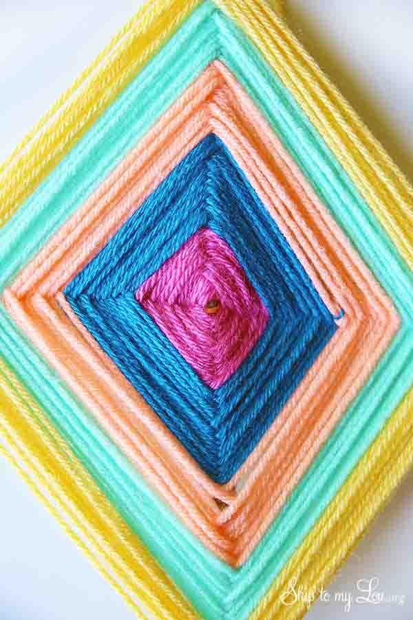 DY God's Eye yarn craft