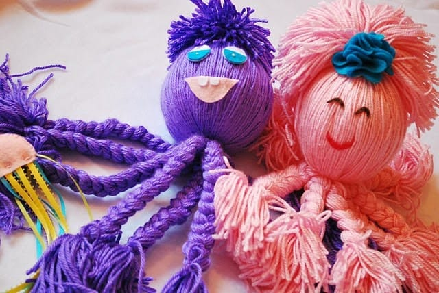Fun yarn octopus