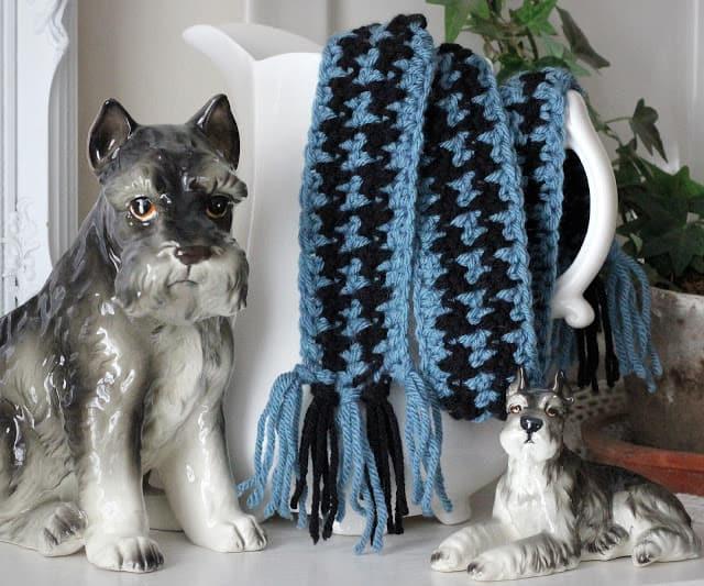 Funny, frivolous dog scarf