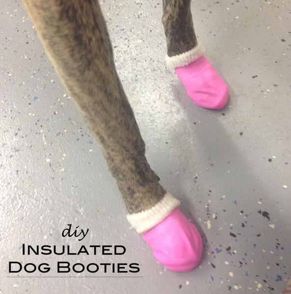 Insulated DIY dog booties