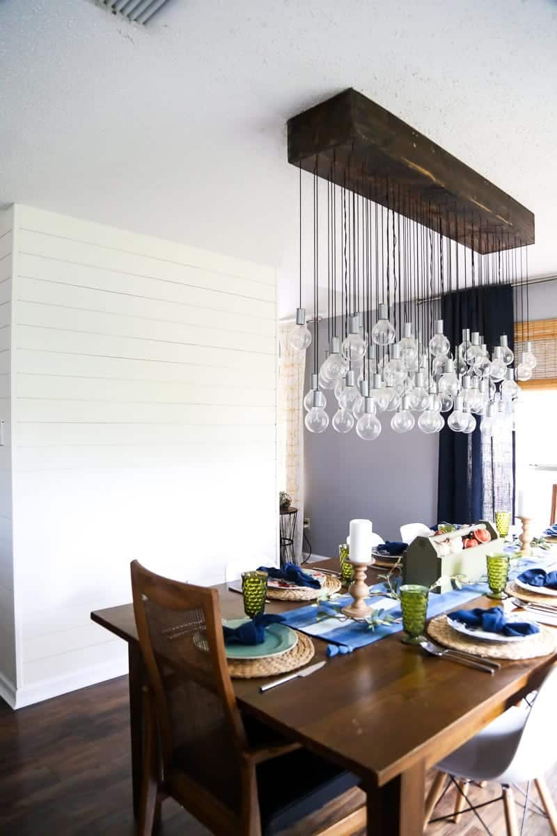 Multi-bulb dining room chandelier