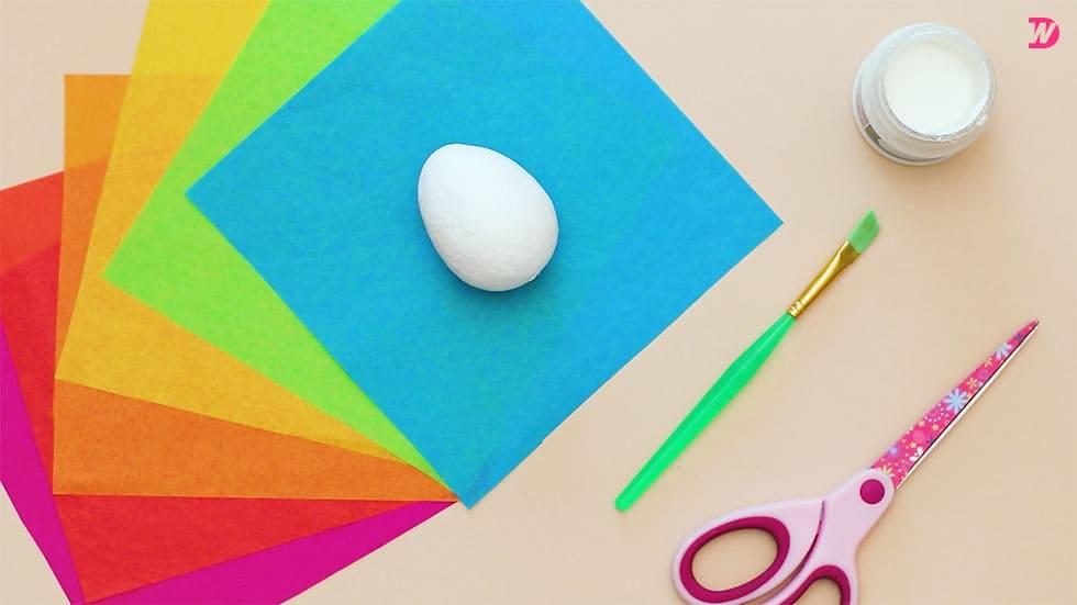 Paper Maché Easter Eggs – materials