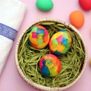 Paper Maché Easter Eggs for Colorful Holidays