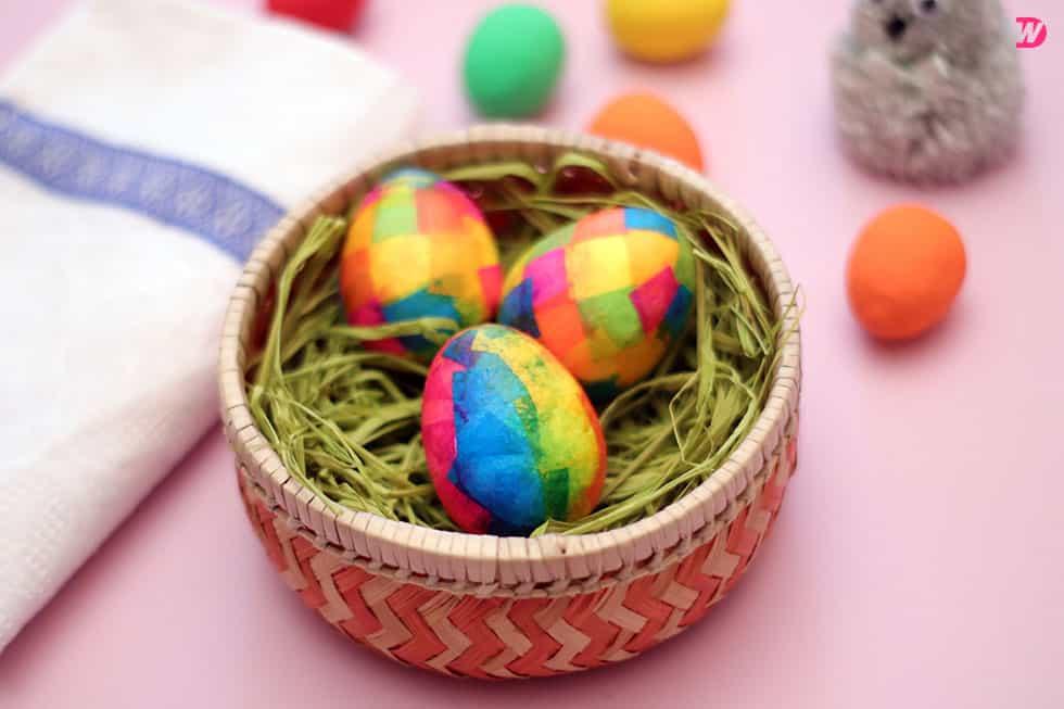 Paper Maché Easter Eggs
