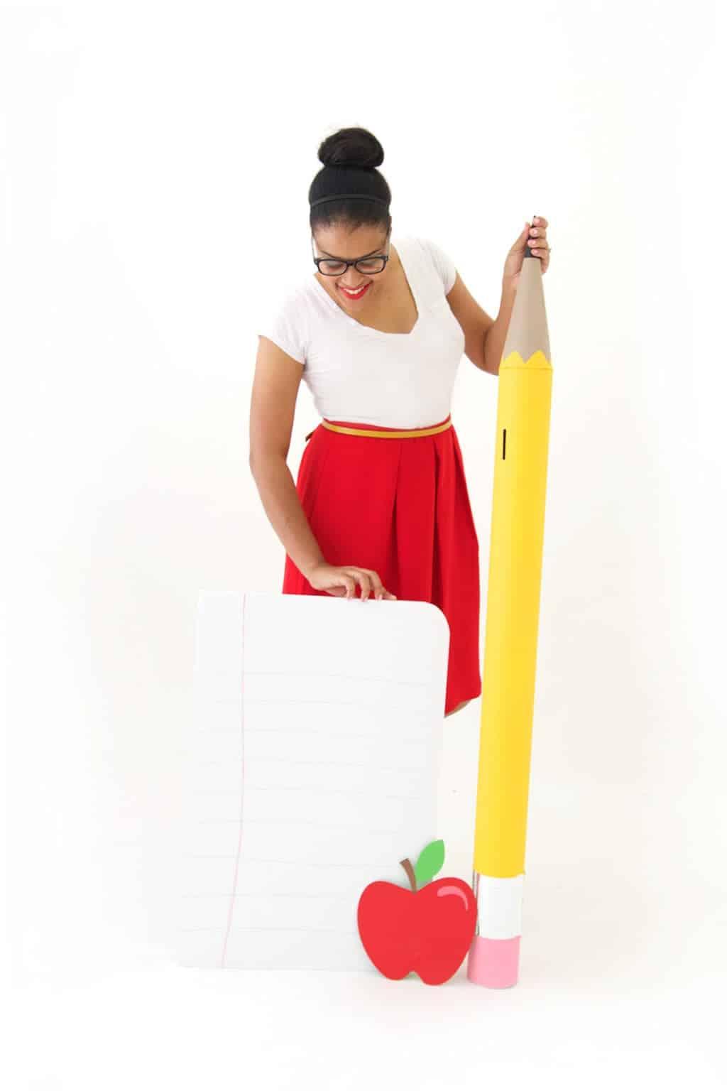 Pencil shaped jumbo cardboard tube piggybank