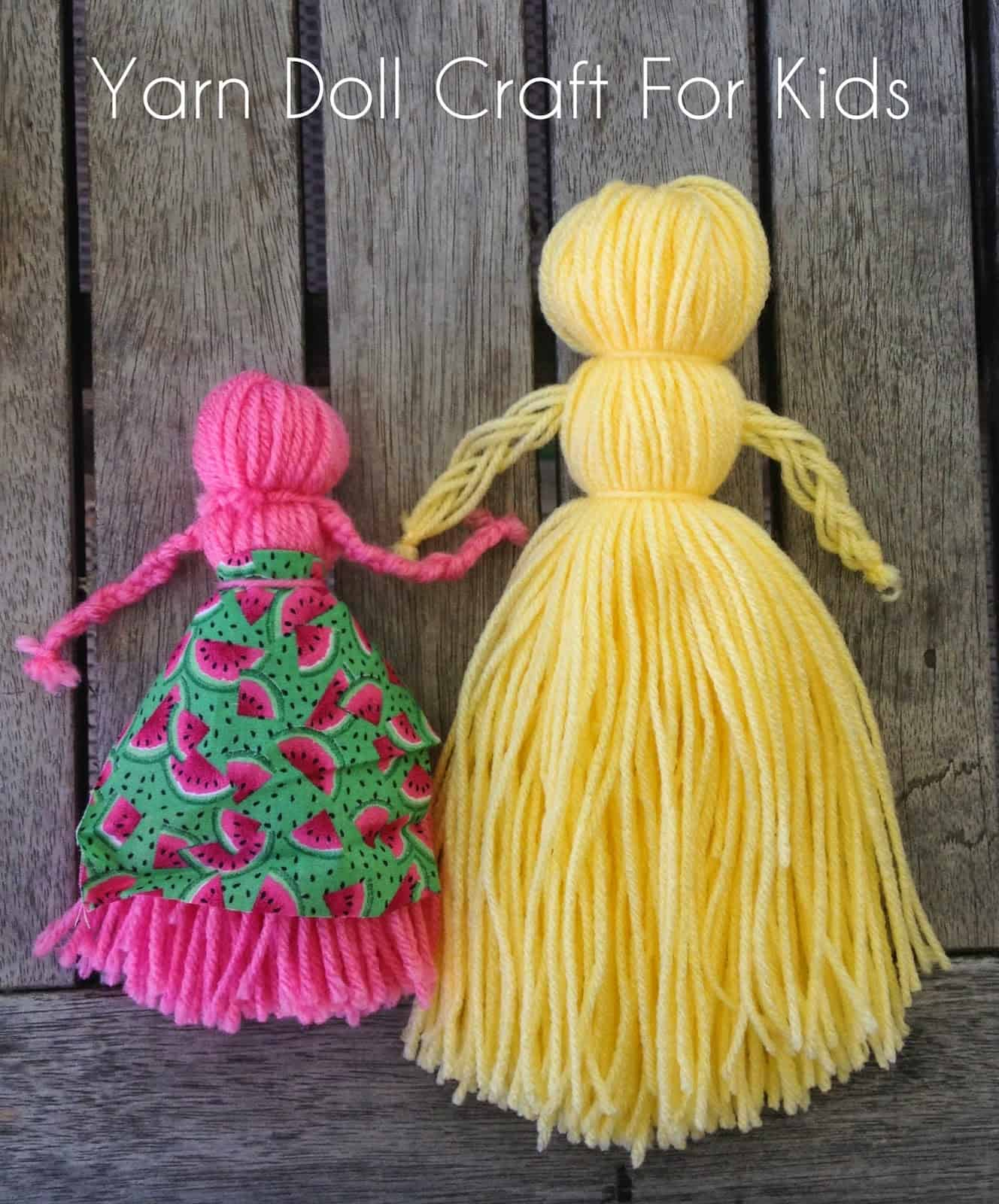 Simple yarn doll 15 Fantastic DIY Yarn Crafts of All Kinds