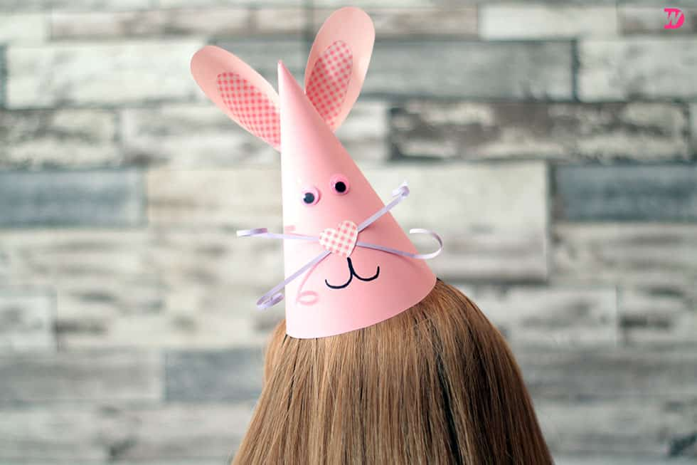 Super Cute Bunny Party Hat DIY Easter Bunny Party Hat to Celebrate