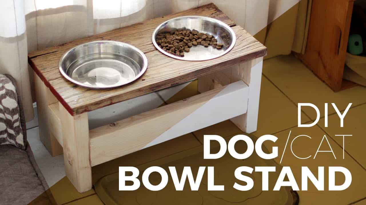 How to make a Dog Bowl Stand – DIY || or Cat ||